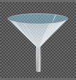 glass transparent funnel
