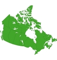 Green Canada map vector image vector image