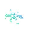 gun icon design vector image