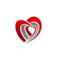 hand love ribbon health vector image vector image