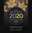 happy new 2020 year poster template with shining vector image
