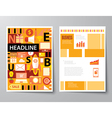 headline startup set of magazine cover vector image vector image
