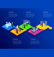 isometric presentation business infographics vector image vector image