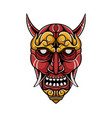 japanese demon mask vector image vector image