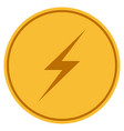 lightning gold coin vector image vector image