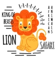 Lion on a white background isolated vector image vector image