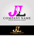 logo letter j and l vector image