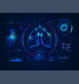 lungsdiagnosis vector image vector image