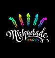 masquerade hand lettering inscription vector image