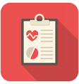 Medical report vector image