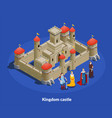 medieval castle isometric cimposition vector image vector image
