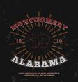 Montgomery Alabama t-shirt graphic print vector image vector image