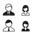 office people icons set vector image vector image
