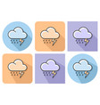 outlined icon of thunderstorm with parallel and vector image vector image