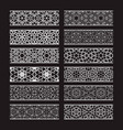patterned elements for brushes creating borders vector image vector image