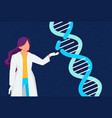 research lab concept dna laboratory female vector image vector image
