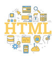 round linear concept of html vector image vector image