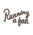 running a fan running marathon badge lifestyle vector image vector image