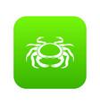 seafood crab icon digital green vector image vector image