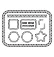 set of hand drawn doodle border vector image