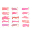set pastel brush strokes and spots on a white vector image vector image