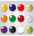 shiny christmas decoration color small baubles vector image