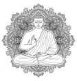 Sitting Bubbha in Lotus position vector image vector image