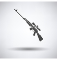 Sniper rifle icon vector image