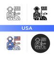 space exploration icon vector image vector image