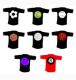 sport ball t shirt vector image