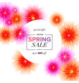 spring sale background with beautiful flowers vector image vector image