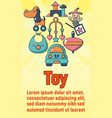 toy concept banner cartoon style vector image vector image