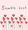 valentines day card with cute red hearts vector image vector image