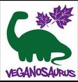 veganosaurus vegan dino vector image vector image