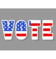 Vote buttons with red and blue colors vector image vector image