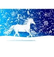 White horse sketch for your design Symbol of 2014 vector image