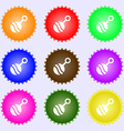 Baby rattle icon sign Big set of colorful diverse vector image