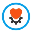 Mechanical Heart Rounded Icon vector image