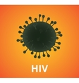 hiv virus virus single isolated with text vector image