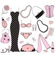 Ladies Fashion Set vector image