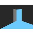 Light from the open door Blue lights vector image