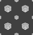 A three sided cube puzzle box in 3D icon sign vector image