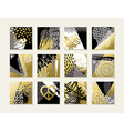 Abstract art set of gold card designs vector image vector image