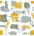 abstract brushstrokes and scribbles vector image