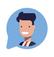 avatar businessman or manager social icon in the vector image