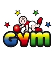 bagym toddler exercise vector image
