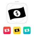 Banknote with dollar sign icon vector image