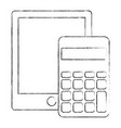 calculator math with tablet vector image vector image