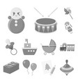 children toy monochrome icons in set collection vector image