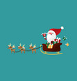 christmas character of santa claus in a sleigh vector image